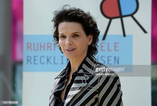 French actress Juliette Binoche during a press conference on the Ruhr Festival inRecklinghausenGermany 21 May 2015 Binoche can be seen in the...