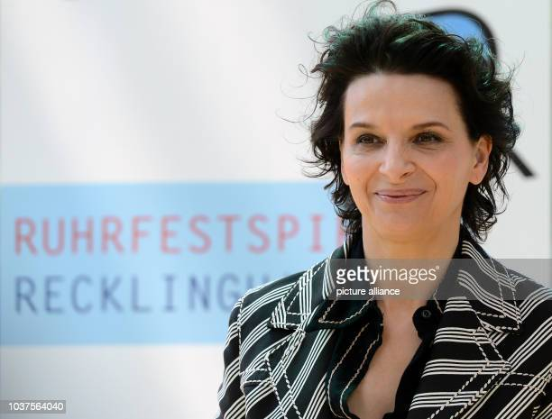 French actress Juliette Binoche during a press conference on the Ruhr Festival in Recklinghausen Germany 21 May 2015 Binoche can be seen in the...