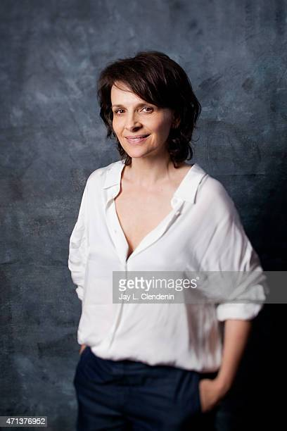 French actress Juliette Binoche is photographed for Los Angeles Times on September 6 2014 in Toronto Ontario PUBLISHED IMAGE CREDIT MUST READ Jay L...