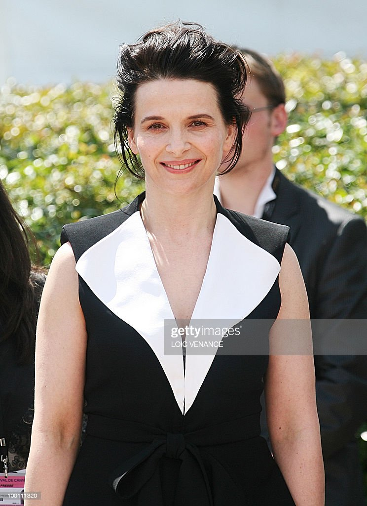 French actress Juliette Binoche poses du