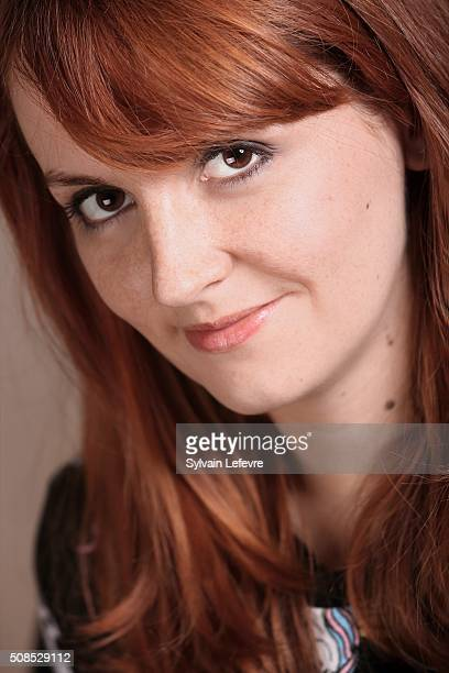 French actress Justine Le Pottier is photographed for Self Assignment at the International Fantastic Film Festival on January 30, 2016 in Gerardmer,...
