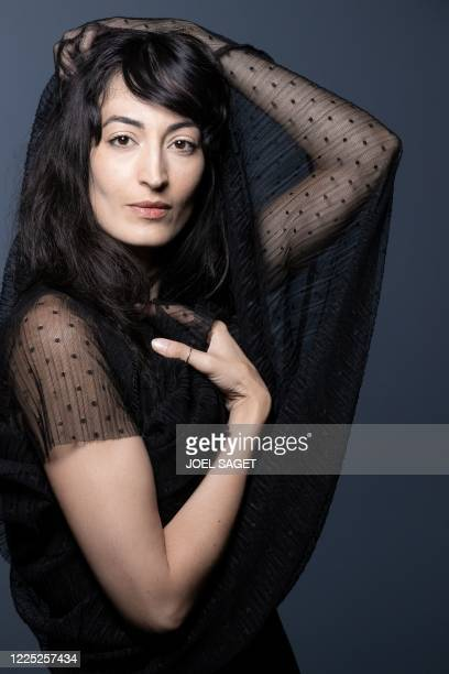 French actress Laetitia Eido poses during a photo session in Paris on July 1 2020