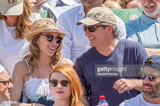 French Actress Laura Smet and her companion attend the french open 2014 at Roland Garros on June 6 2014 in Paris France