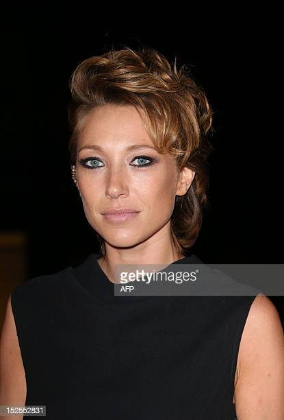 French actress Laura Smet poses as she arrives to attend the inauguration ceremony of the Cite du cinema a film studios complex heralded as Hollywood...