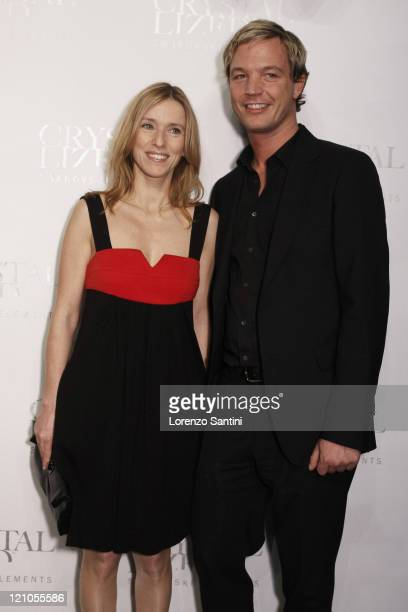 French actress Lea Drucker and Marcus Swarovski attend the Crystallized Swarovski Elements Unbridaled Launch Party during Paris Fashion Week...