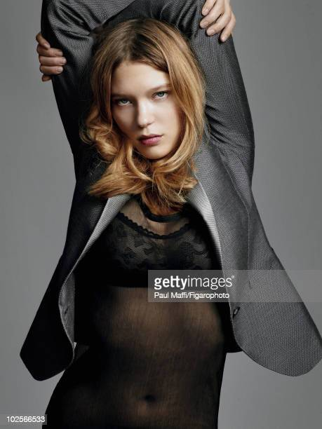 French Actress Lea Seydoux poses for Madame Figaro Magazine in Paris in the fall of 2009 Published image Image ID 086461006 Credit must read Paul...