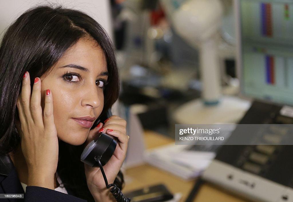 French actress Leila Bekhti takes part on September 11
