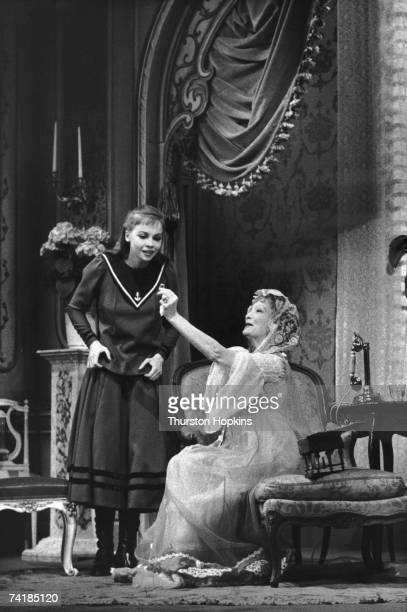 French actress Leslie Caron in the title role with Estelle Winwood in a WestEnd production of 'Gigi' based on the book by Collette London April 1956...