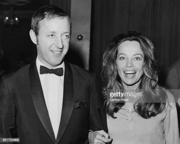 French actress Leslie Caron with her friend Anthony Harvey at the Cafe Royal in London for a party preceding the gala midnight premiere of the Mike...