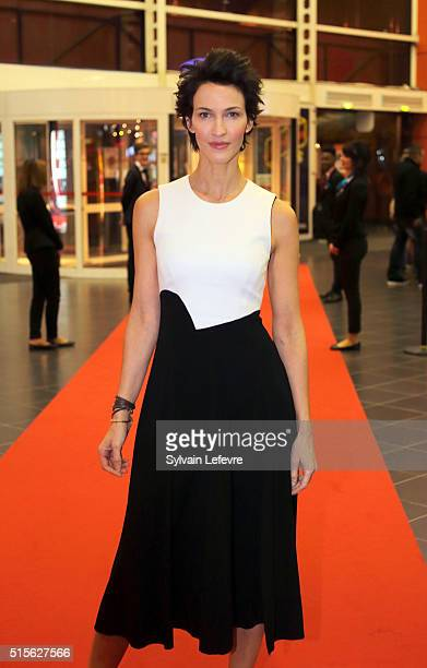 French actress Linda Hardy attends 6th Valenciennes Film Festival opening ceremony on March 14 2016 in Valenciennes France