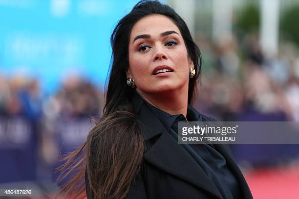 French actress Lola Dewaere poses on the red carpet before the screening of the movie Everest on September 4 2015 during the 41th Deauville US Film...