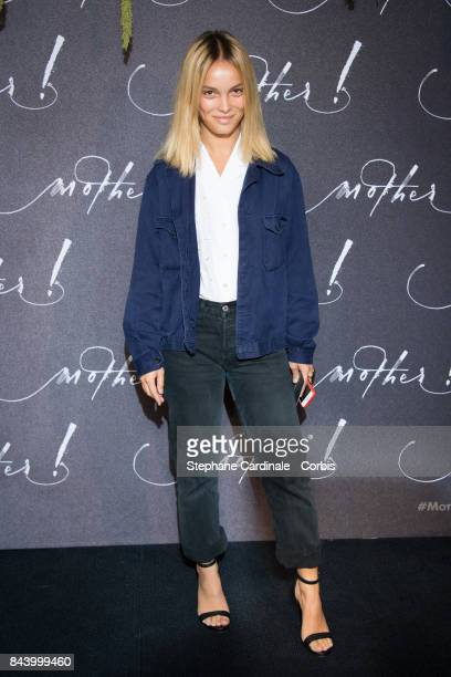 French actress Lola Le Lann attends the French Premiere of 'mother' at Cinema UGC Normandie on September 7 2017 in Paris France