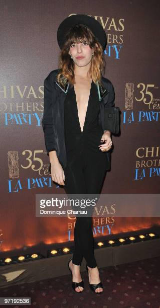 French Actress Lou Doillon attends the 35th Cesar Film Awards After Party at Dancing Mimi Pinson on February 28 2010 in Paris France