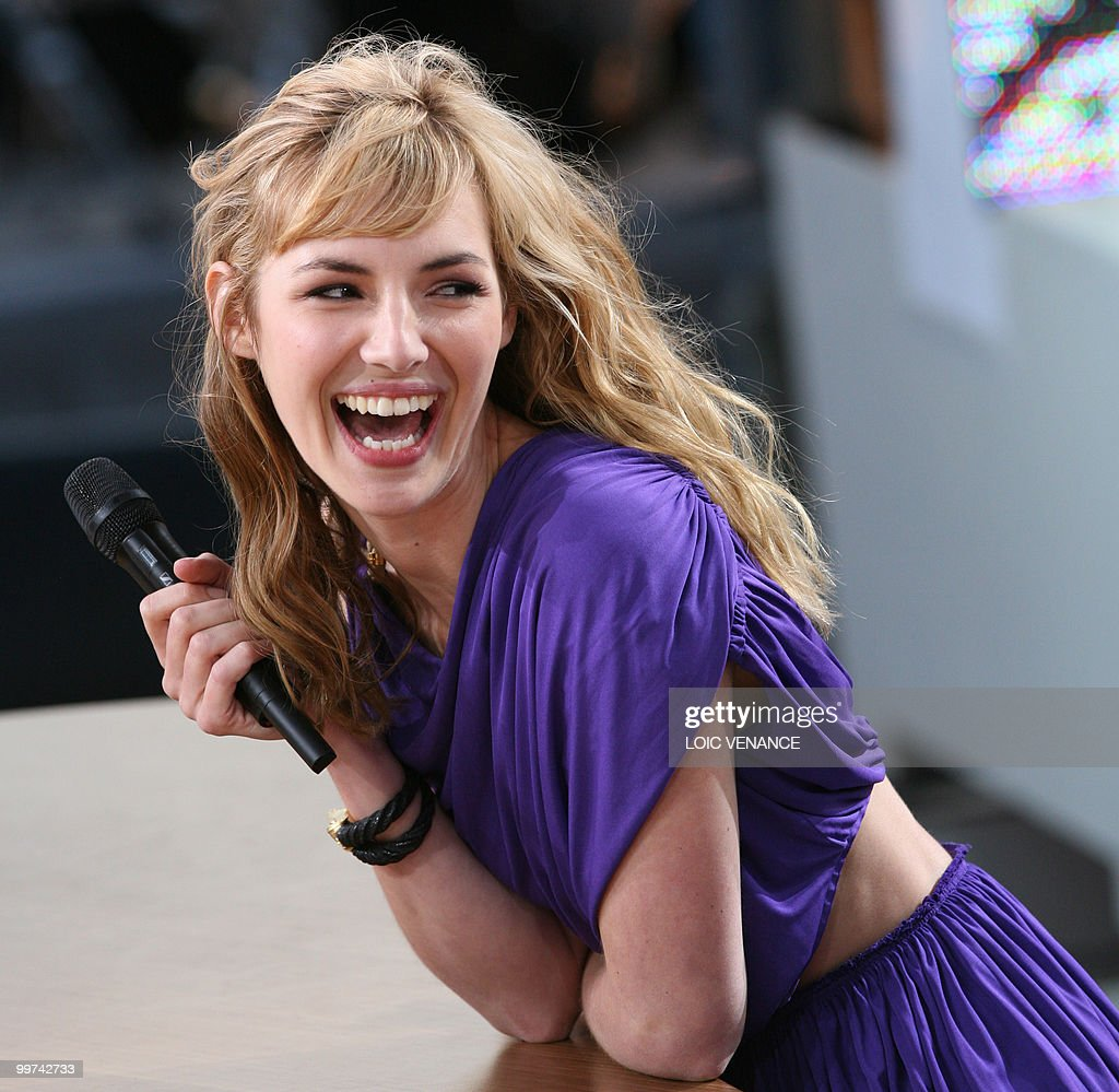 French actress Louise Bourgoin attends the Canal+ TV show 'Le Grand Journal' at the 63rd Cannes Film Festival on May 17, 2010 in Cannes.