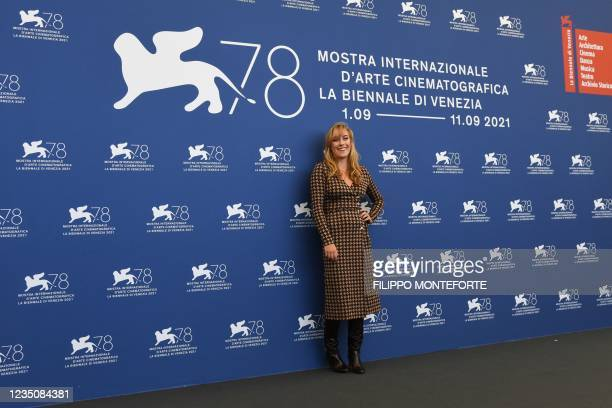 """French actress Louise Orry-Diquero attends a photocall for the film """"l'Evenement"""" presented in competition on September 6, 2021 during the 78th..."""
