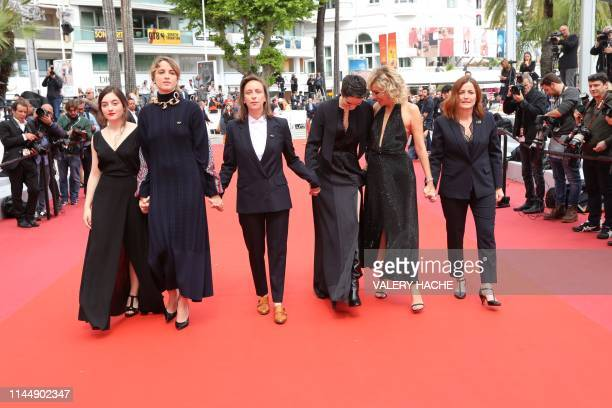 French actress Luana Bajrami French actress Adele Haenel French director Celine Sciamma French actress Noemie Merlant Italian actress and film...