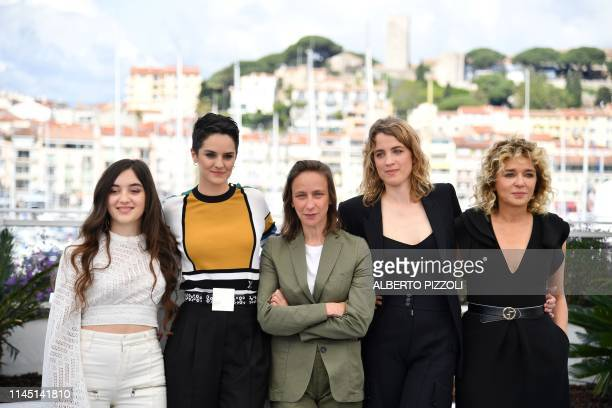 French actress Luana Bajrami French actress Noemie Merlant French director Celine Sciamma French actress Adele Haenel and Italian actress and film...