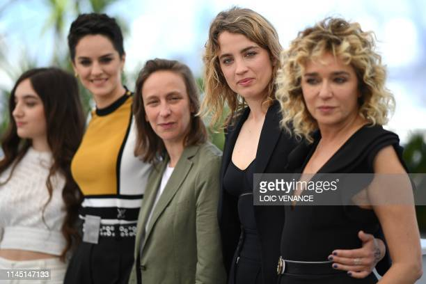 French actress Luana Bajrami French actress Noemie Merlant French director Celine Sciamma French actress Adele Haenel and Italian actress Valeria...
