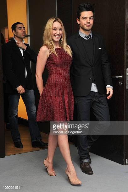 French actress Ludivine Sagnier and actor Dominic Cooper attend the 'The Devils Double' Photocall during day two of the 61st Berlin International...