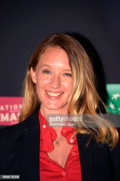French actress Ludivine Sagnier poses during a photocall for the press launch of the 33rd edition of the Fete du Cinema at the Cite du Cinema in...