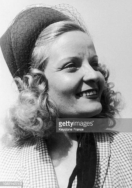 French Actress Madeleine Sologne With The Film L'Eternel Retour In Vienna April 18 1947