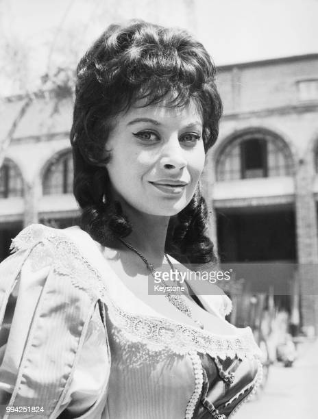 French actress Magali Noël on the set of the film 'Il colpo segreto di D'Artagnan' in Rome Italy 26th April 1962 She plays Carlotta in the film