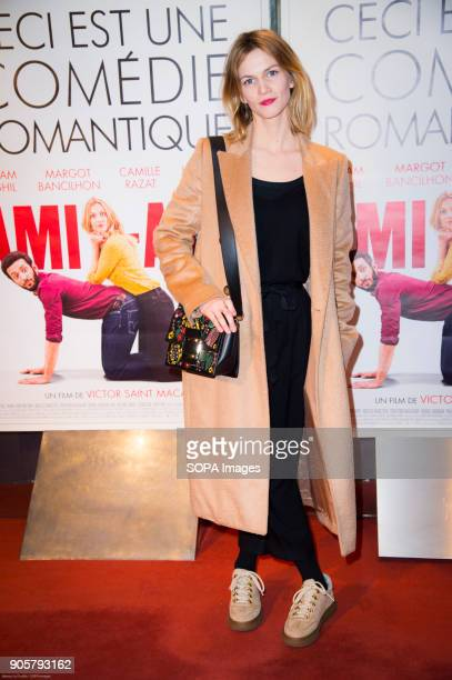 French actress Margot Bancilhon at the premiere 'Ami Ami' in the cinema ugc cine cite les halles