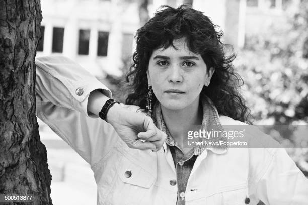 French actress Maria Schneider in London on 17th May1985