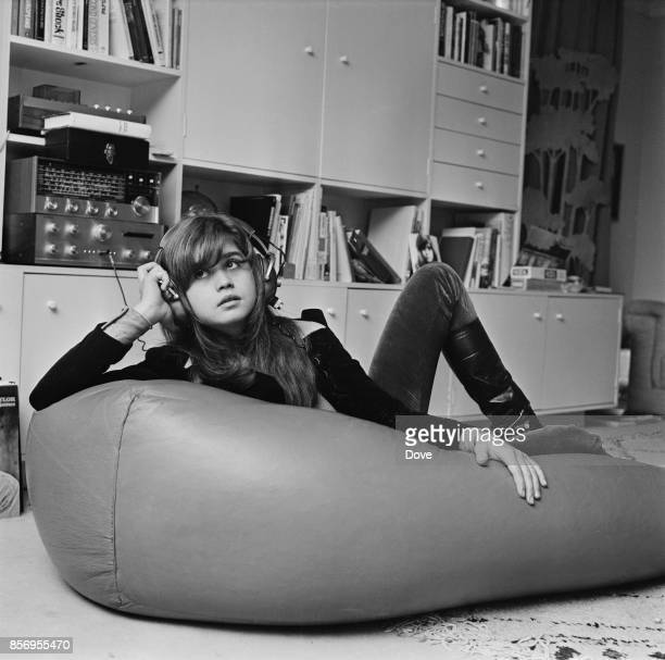 French actress Maria Schneider in London to learn English UK 30th November 1970