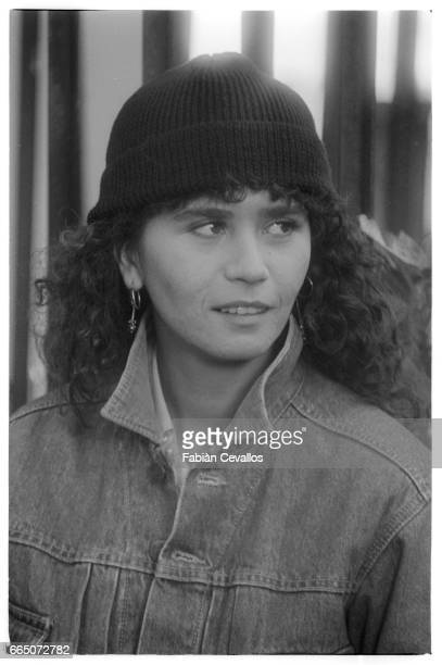 French actress Maria Schneider plays the role of Francesca in Italian director Luigi Comencini's 1982 film Looking for Jesus also known as Cercasi...