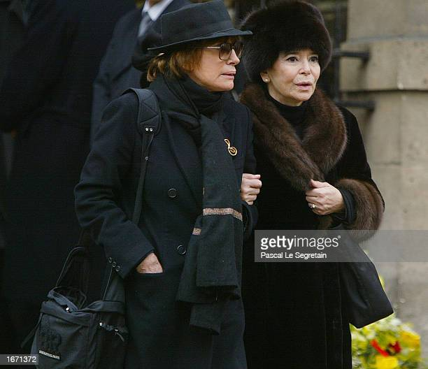 French actress Marie Josee Nat attends the funeral for French actor Daniel Gelin December 4 2002 in Paris Gelin known best to English audiences for...
