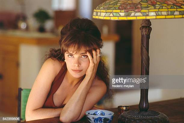 French actress Marie Trintignant at home