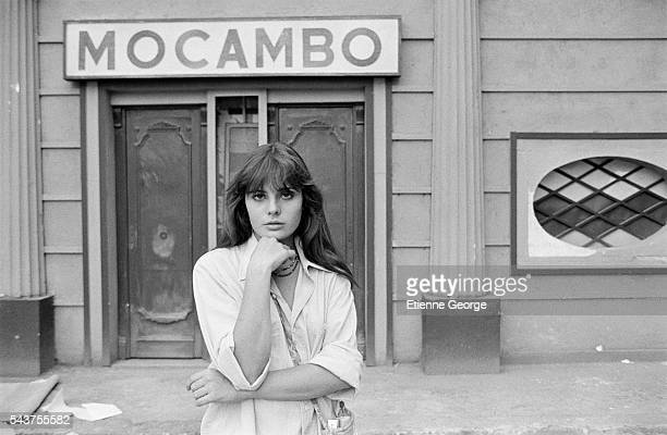 French actress Marie Trintignant on the set of the film La Terrazza directed by Italian director Ettore Scola