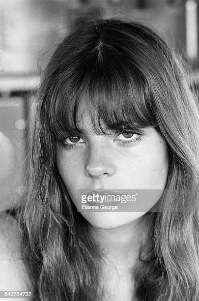 French actress Marie Trintignant on the set of the film Premier Voyage directed by her mother French director Nadine Trintignant | Location St...