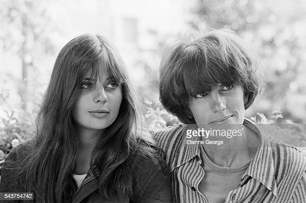 French actress Marie Trintignant on the set of the film Premier Voyage with her mother and director of the film Nadine Trintignant | Location St...