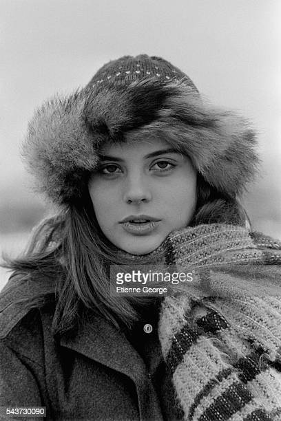 French actress Marie Trintignant on the set of the film Serie Noire directed by Alain Corneau and based on American writer Jim Thompson's novel A...