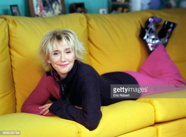 French actress MarieAnne Chazel at home