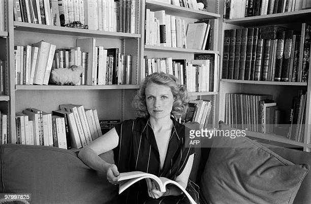 French actress MarieChristine Barrault reads a script at her home on October 03 1980 in Paris MarieChristine Barrault who has appeared in 45 films...