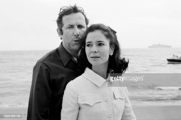 French actress MarieJosé Nat poses with her husband director Michel Drach in May 1971 at the International Film festival in Cannes