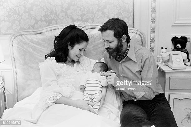French actress MarieJosé Nat with her husband director and screenwriter Michel Drach with their newborn son Sylvain