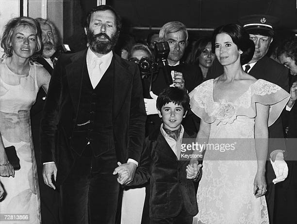 French actress MarieJose Nat with her son David Drach and husband Michel Drach at the Cannes Film Festival 27th May 1974 Nat won the award for best...