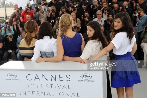 French actress Marina Fois French actress Leila Bekhti Belgian actress Virginie Efira French actress Noee Abita and French actress Melanie Doutey...