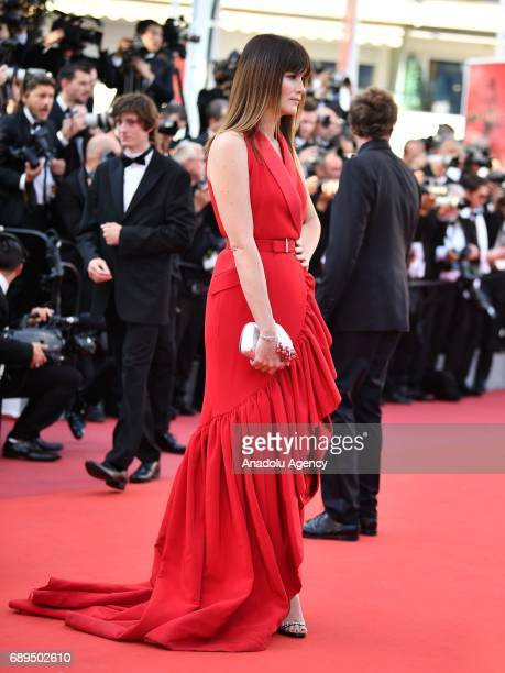 French actress Marina Hands arrives for the Closing Awards Ceremony of the 70th annual Cannes Film Festival in Cannes France on May 28 2017