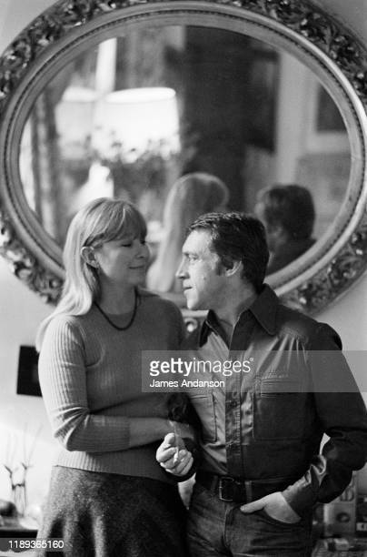 French actress Marina Vlady at home in Paris with her husband Vladimir Vysotsky a Russian antiestablishment actor poet songwriter and singer...