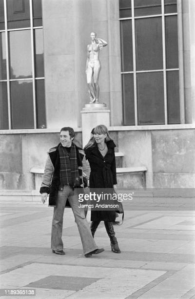 French actress Marina Vlady in Paris at the Trocadero with her husband Vladimir Vysotsky a Russian antiestablishment actor poet songwriter and singer