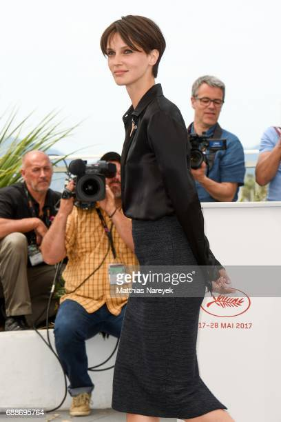 French actress Marine Vacth attends the 'Amant Double ' Photocall during the 70th annual Cannes Film Festival at Palais des Festivals on May 26 2017...