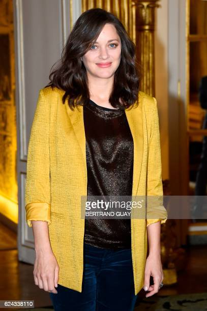 French actress Marion Cotillard arrives for a ceremony at the Ministry of Culture in Paris on November 19 2016 / AFP / BERTRAND GUAY