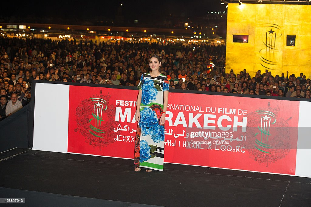 French actress Marion Cotillard attends the 'Public Enemies' Presentation during the 13th Marrakech International Film Festival on December 5, 2013 in Marrakech, Morocco.