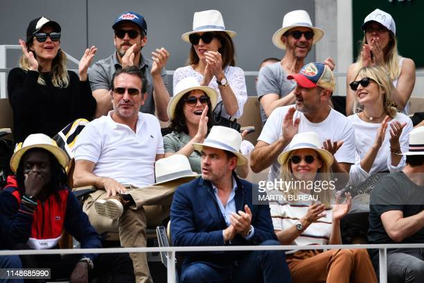 French actress Marion Cotillard her husband French actor and movie direcor Guillaume Canet French actress Elsa Zylberstein and French singer Calogero...