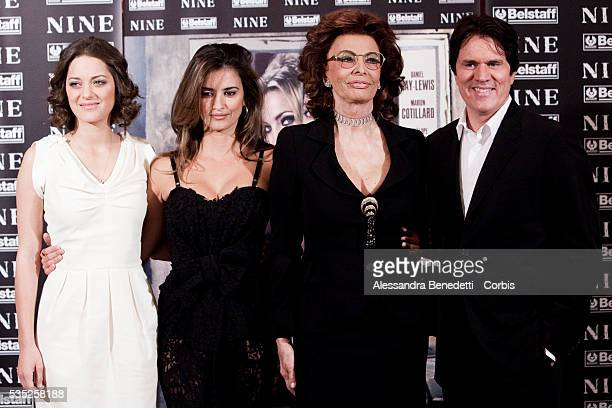 French actress Marion Cotillard italian actress Sofia Loren spanish actress Penelope Cruz and director Rob Marshall attend the photocall of movie...